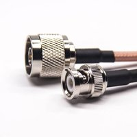 N Type Cable Connector Straight Male To BNC Straight Male With RG142