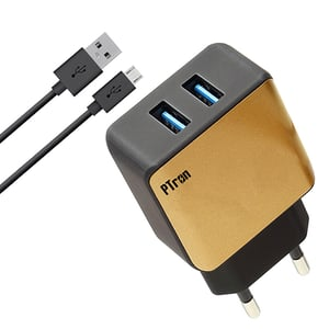 pTron Electra 2.4A Dual USB Fast Charging Travel Charger Adapter
