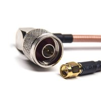 SMA To N Type Cable Right Angle Male With RG142 Cable