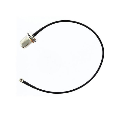 RF Cable Connectors TS-9 Right Angle To N Female Bulkhead LMR100 Adapter