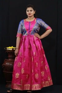 Kanchipuram Style Long Gown