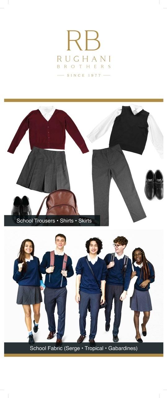 Pleated And Plain Girl's School Skirt