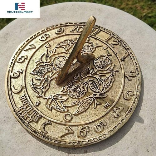 Nauticalmart Morning Glory 5.5 Inches Brass Sundial
