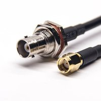 BNC Female Connectors Straight To SMA Straight Male RP Coaxial Cable With RG223 Rg58