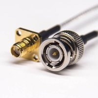 BNC Straight Connector Male To SMA Male RP Right Angled Coaxial Cable With RG316
