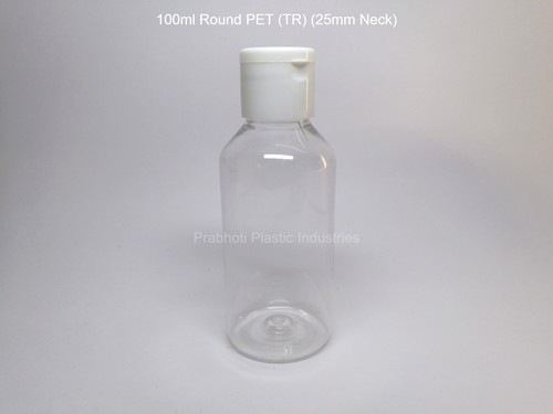 Round Transparent PET Bottle
