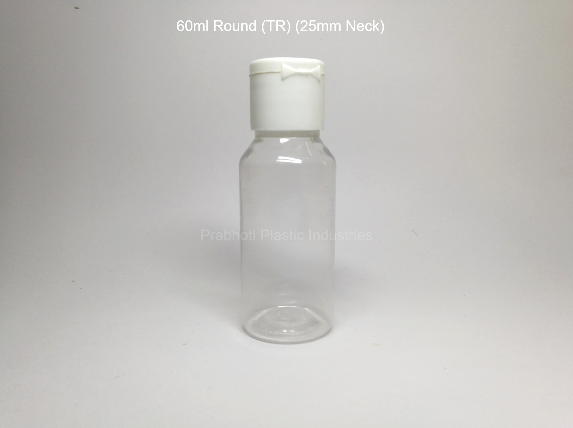Round Transparent PET Bottle
