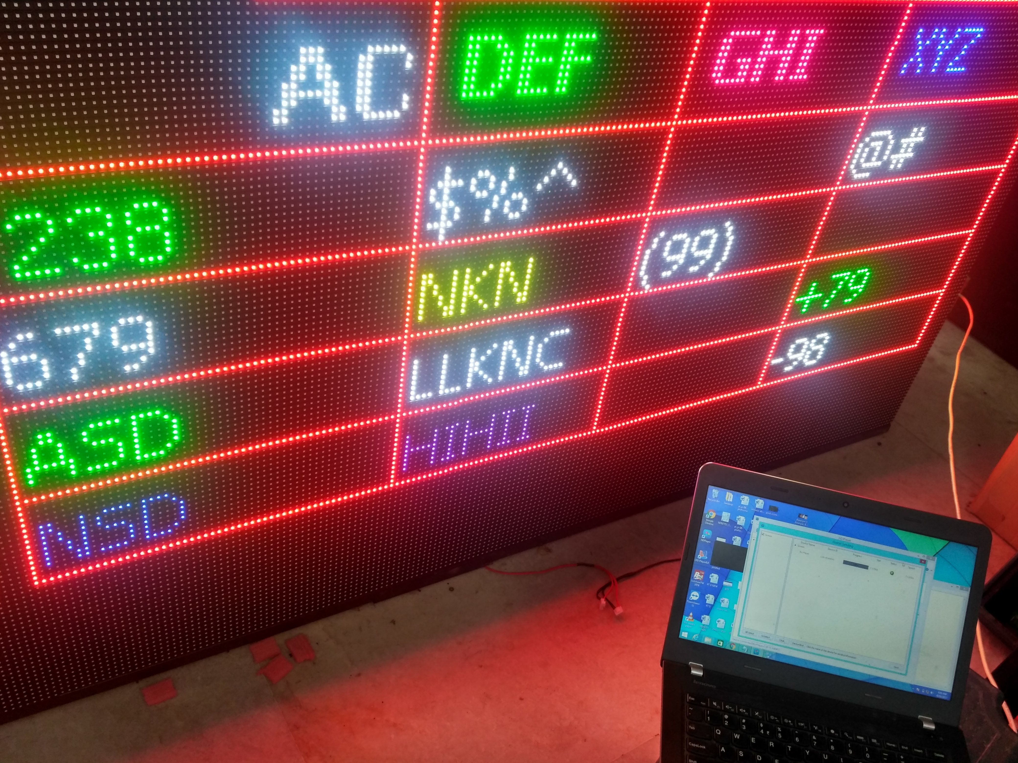 LED Ticker Display