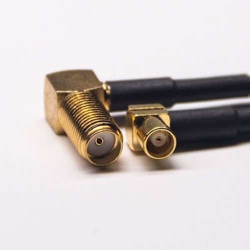 MCX Jack Cable Connnector 90 Degree To SMA Female For RG174 Cable