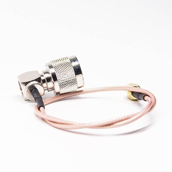 N Type Coaxial Cable Right Angled Male To SMA Straight Male