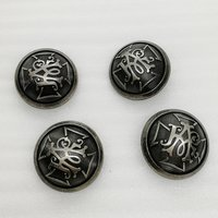 27mm High Quality Retro Custom Design Alloy Metal Sewing Button for Clothing Accessories/Coat HD423-19