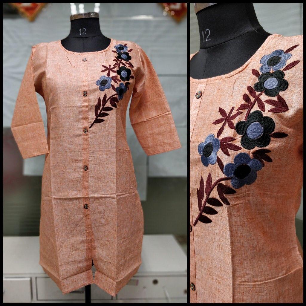 Embroidery Work Khadi Kurti