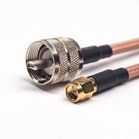 UHF To SMA Cable Male To Male RG142 Cable Assembly