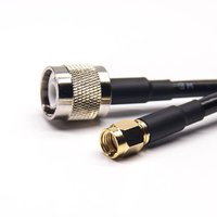 TNC Male Connector 180 Degree To SMA Male Straight Coaxial Cable With RG223 RG58