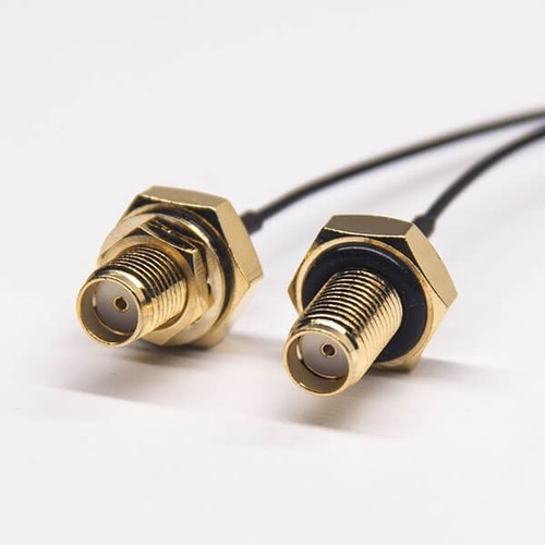 SMA To Ipex Cable SMA Female Straight Panel Mount To Ipex Anged Connector