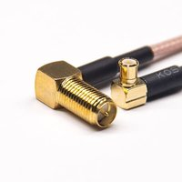 SMA RP Female Cable Right Angled To MCX Male Angled Cable With RG316