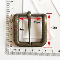 High Quality Vintage Metal Zinc Alloy Silver Pin Belt Buckle (HD429-19)