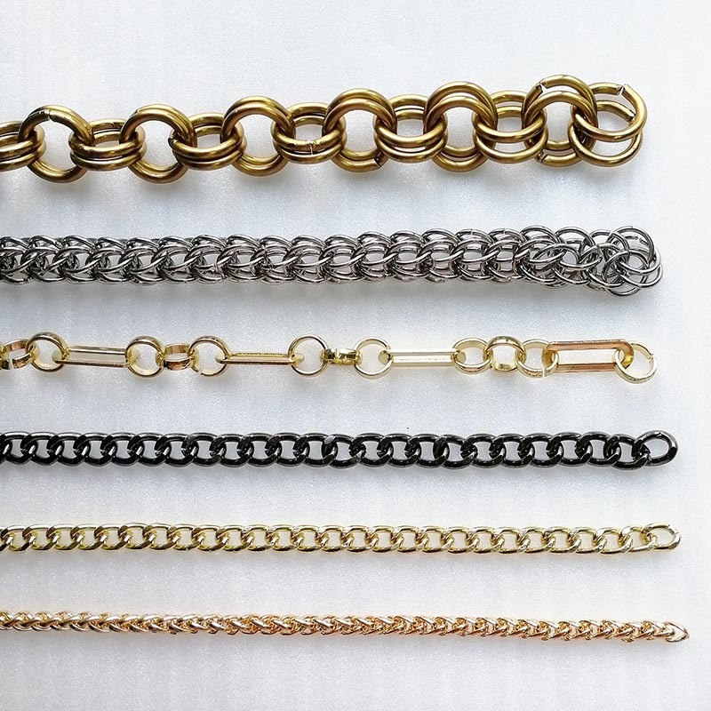 High Grade Alloy/Iron Handbag Hardware Small Metal Gold Purse Link Chain for Bag Accessories HD0005-C