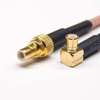 SMB Cable Female Straight To MCX Male Angled Coaxial Cable With RG316