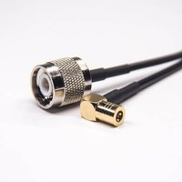 SMB Male Right Angle To TNC Straight Assembly Cable