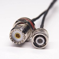 UHF Straight Female To TNC Straight Male RF Coaxial Cable RG174