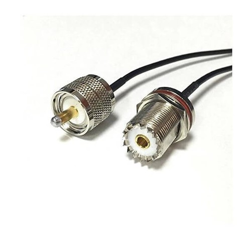 RF Cable Jack UHF SO239 To UHF Male PL259 Pigtail Cable RG174 20cm