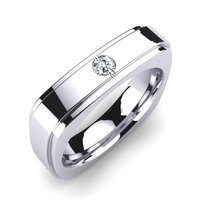 Silver Solitaire Rings For Men