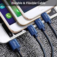 pTron Indigo 3-in-1 2A 1-meter USB Charging Cable for All Smartphones