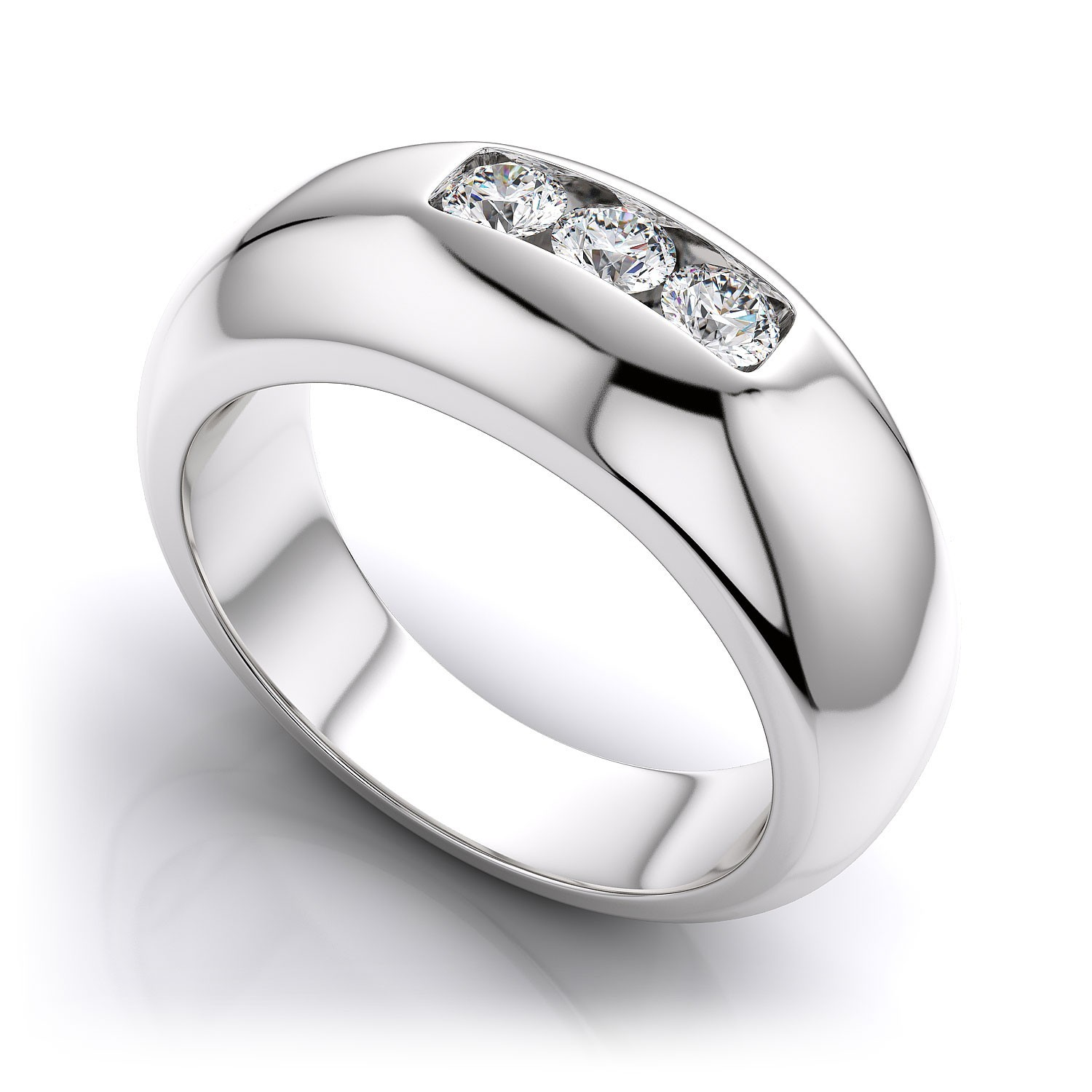 Two Stone Solitaire Ring