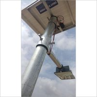 15w Solar Power Lighting System, Panel & Pole With Complete Structure