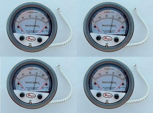 Dwyer A3000-10KPA Photohelic Pressure Switch Gauge Range 0-10 kPa.
