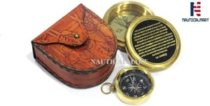NauticalMart Brass Compass I Carry Your Heart with Me Poem Compass with Mini Compass Combo Gift, Personalized Compass, Groomsmen Gifts, Wedding Gifts, Corporate Gift, Unique Gift