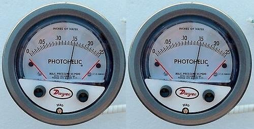 0-125 Pa. Dwyer A3000-125PA Photohelic Pressure Switch Gauge Range
