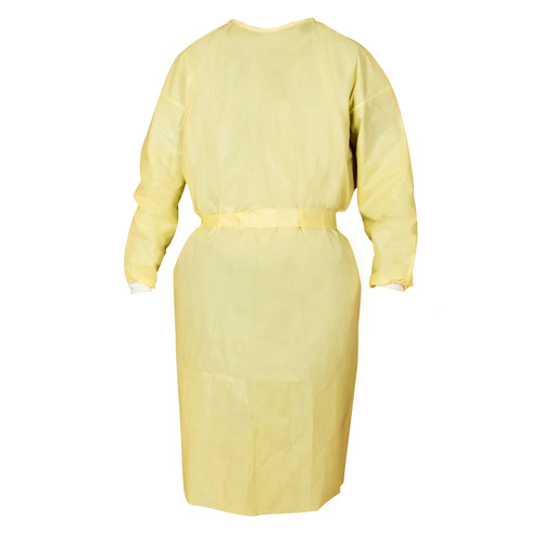Disposable Isolation Clothings Sterilized PP+PE FDA CE Yellow loog Isolation Gowns