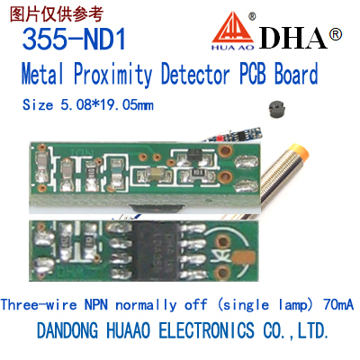 355-ND1 Metal Proximity Detector PCB Board