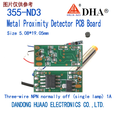 355-ND3 Metal Proximity Detector PCB Board