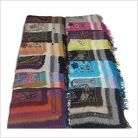 Boiled Wool Embroided Stole , Size-70x200cm