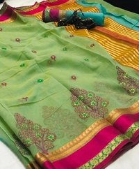 Pure Cottan with  Rich Pallu saree