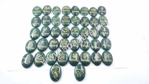 Green Jade Oval Reiki Set