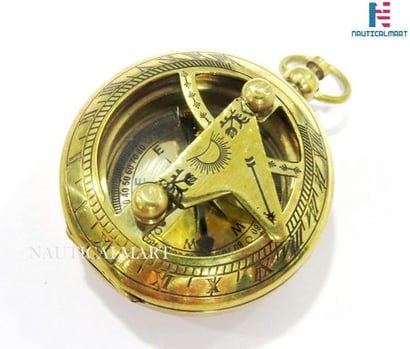 Nautical Nauticalmart Push Button Brass Pocket Compass