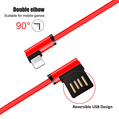pTron Solero 2.4A Charging USB Cable 1.2 Meter in Length for iPhones