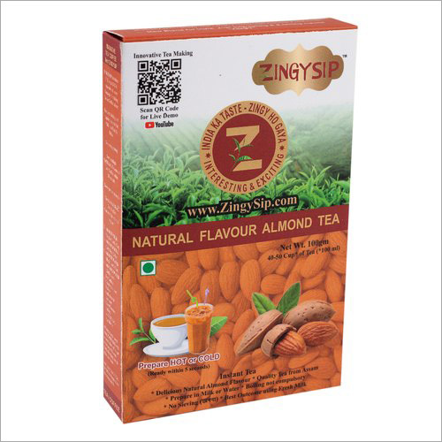 Zingysip Natural Almond Tea