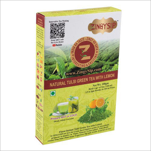 Premium Tulsi Green Tea With Lemon