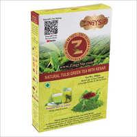 Premium Tulsi Green Tea Wiyh Saffron