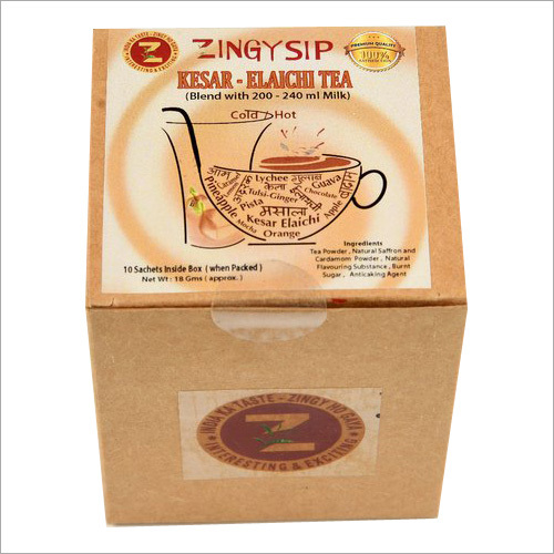 Zingysip Kesar-Elaichi Tea ( For Milk )