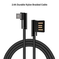 pTron Solero 2.4A 90-degree 1.2meter Micro USB Charging Cable