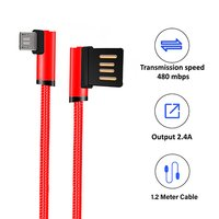 pTron Solero 90-Degree 2.4A Fast Charging 1.2m Micro USB Cable