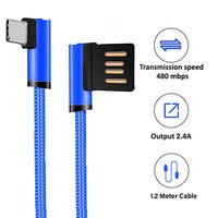 pTron Solero Type-C 2.4A Charging Cable 1.2m Nylon Braided USB Cable