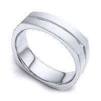 Mens Silver Plain Rings
