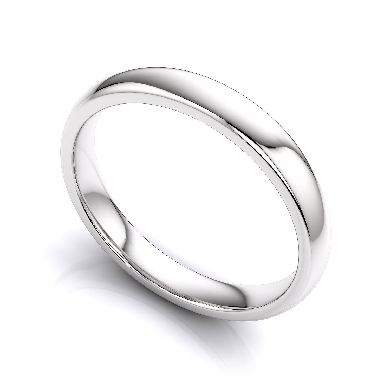 Mens Silver Plain Rings